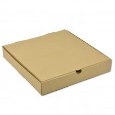 Коробка картон для пиццы 420х420х40мм бурая