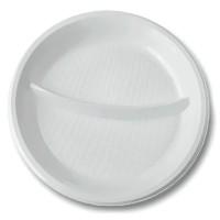 Тарелка белая ПС 2-секц. d=205мм