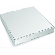 Коробка картон для пиццы 310х310х40мм белая/бурая