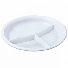 Тарелка белая ПС 3-секц. d=210мм