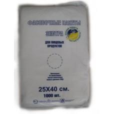 Пакет фасовочный ПНД 25х40см 8мкм 1000 шт/уп