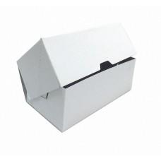 Белая бумажная коробочка для пирожных 218х150х75мм