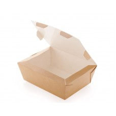 Бумажный контейнер с окном 600мл 150х115х50мм