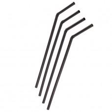 Трубочки для напитков с изгибом d=5мм L=210мм черные 250шт/уп