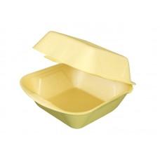 Короб для гамбургера 130х130х70мм желтый  ВПС