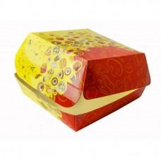 "Коробка под бургер ""Smile"" 120х120х70мм"