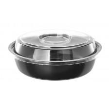 Контейнер для салата черный КД-110 + крышка