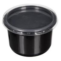 Контейнер 500 мл d=115мм чёрный + крышка