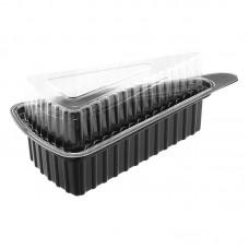 Контейнер для торта черный + прозр.крышка 176х95,5х63,7мм