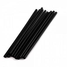 Трубочки д/кокт. прямые d=8мм L=210мм черные 250 шт/уп