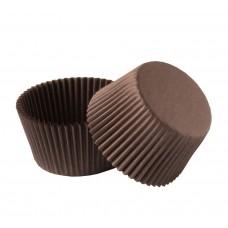 Розетка для пирожных (тарталетка) d-50мм h-30мм бумажная коричн.