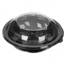 Контейнер СпК-190 750мл d=190 мм чёрный + купол.крышка h=38мм