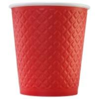 Стакан бумажный двухслойный красный 250 мл