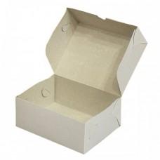 Белая бумажная коробочка для пирожных 150х110х75мм