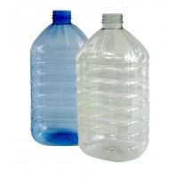 Бутылка 5 л пищевая прозрачная с крышкой и ручкой