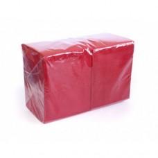 """Салфетки 24х24см 1-сл. бум. """"Big Pack"""" красные 400шт/уп"""