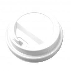 Крышка белая для бумажного стакана Атлас 250мл, d= 80мм