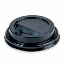 Крышка черная для бумажного стакана Атлас 250мл, d= 80мм