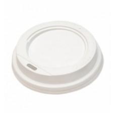 Крышка белая для бумажного стакана 100мл, d= 62мм