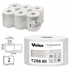 Туалетная бумага 2сл. 125м белая Veiro Professional Comfort T206