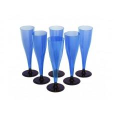 """Фужер 150мл ПС д/шампан. синий """"Кристалл"""""""