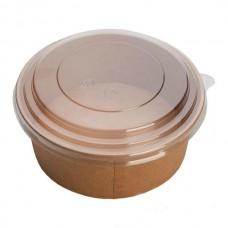 Контейнер бумажный ECO RCONT Pure Craft 1420мл d=186мм h=68мм + крышка