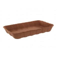 Лоток бумажный коричневый 240х160х37мм