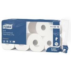 Туалетная бумага в рулонах 3сл. 16,8м Tork Premium 8рул/уп