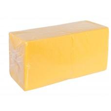 Салфетки 33х33см однослойные желтые 300 шт/уп