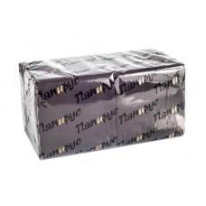 Салфетки бумажные черные Папирус 33х33см 2сл 250л/уп