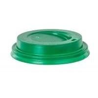 Крышка зеленая для бумажного стакана 250мл, d= 80мм