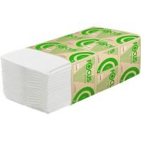 Полотенце бумажное V-сложения 1сл. Focus Eco 200л/уп