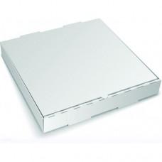 Коробка картон для пиццы 250х250х40мм белая