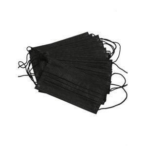 Маска черная для лица 3-сл. 50 шт/уп
