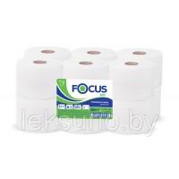 Туалетная бумага 1сл. 200м белая Focus Eco 12рул/уп