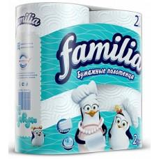 "Полотенца бумажные белые в рулоне ""Фамилия"" 2сл."