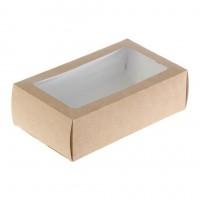 Упаковка под макарон с прозрачным окном 180х110х55мм