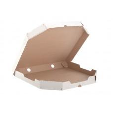 Коробка картон для пиццы со скошенными углами 350х350х40мм