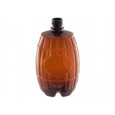 Бутылка ПЭТ «Бочонок» 1 л коричневая 28мм узкое горло