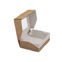 Коробка для пирожных с прозрачным окном 150х100х85мм