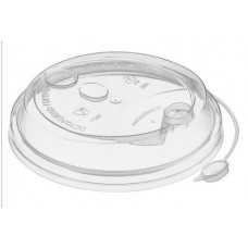 Крышка прозрачная с заглушкой для бумажного стакана 350мл, d= 90мм