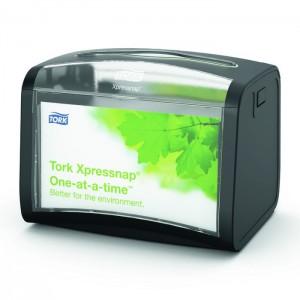 Диспенсер настольный для бумажных салфеток Tork Xpressnap N4 черный