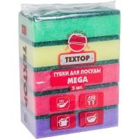 """Губка для посуды МАКСИ """"TEXTOP"""" 5шт/уп"""