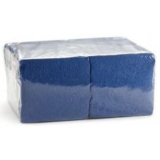 Салфетки 33*33см двухслойные синие 200 шт/уп