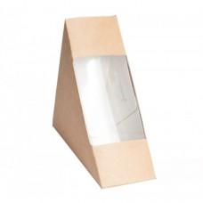 Коробка для сэндвича 130х130х70мм с окном
