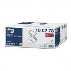 Полотенце листовое Tork Premium ультрамягкие H3 2 сл. ZZ-слож. 200л/уп