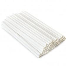 Трубочка бумажная d=6мм L=195мм белая 250шт/уп