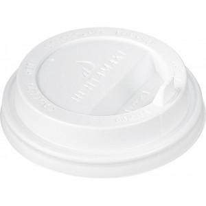 Крышка белая для бумажного стакана Huhtamaki 350мл, d= 90мм