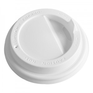Крышка белая для бумажного стакана ПРОТЭК 250мл, d= 80мм