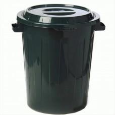 Бак мусорный с крышкой пластиковый 90л d=55 см h=63 см